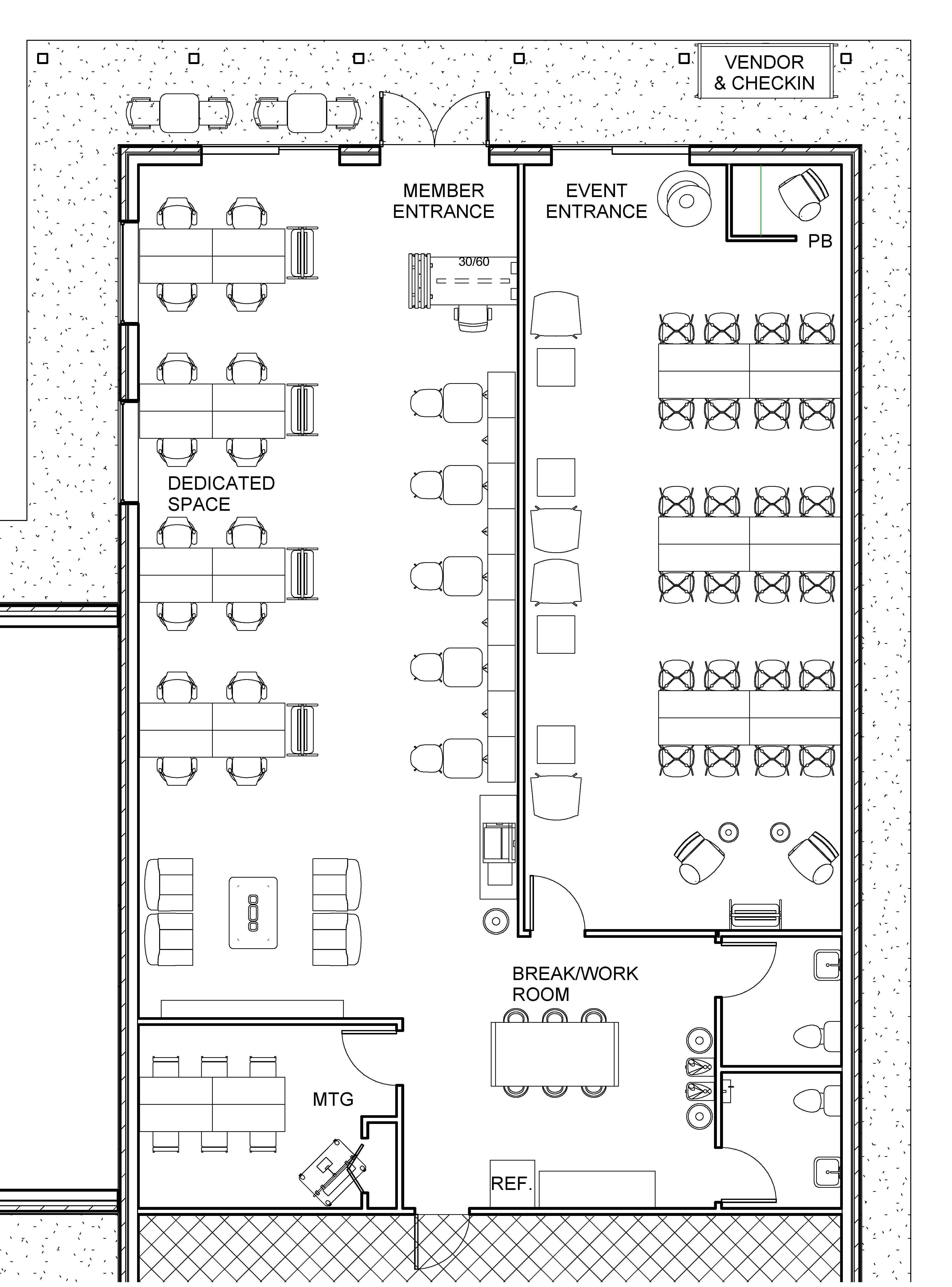 118 interim space - Sheet - A101 - Interim Space